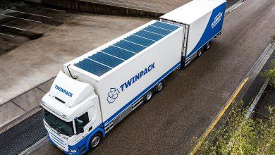 Scania G370 6x2 cu panouri fotovoltaice pe plafon