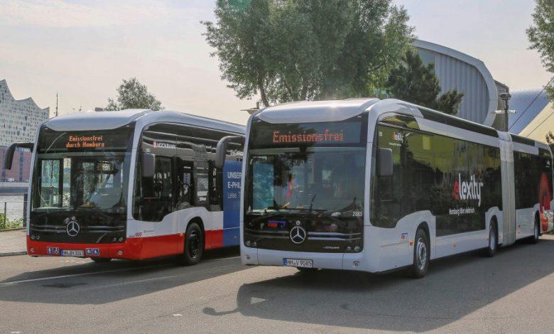 Livrare dublă de autobuze electrice articulate Mercedes eCitaro G în Hamburg