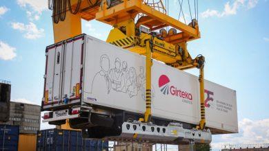 Girteka a început să trimită remorcile pe tren, între Lituania și Olanda