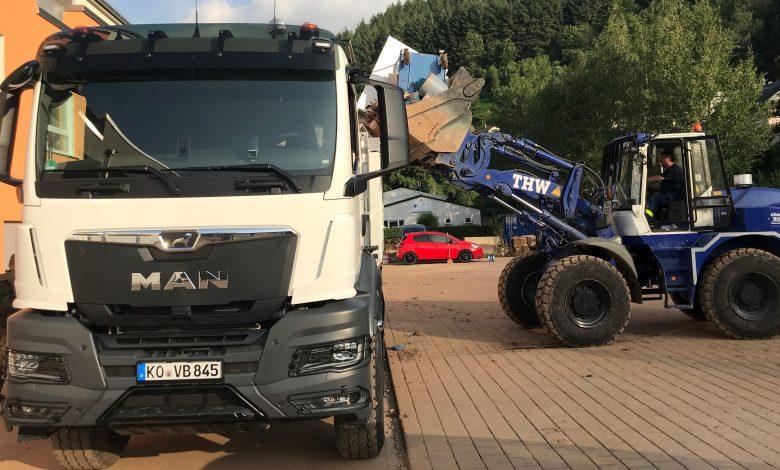 MAN susține acțiunile de refacere de după inundațiile din Germania