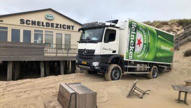 Camion de construcții 4x4 pentru distribuție de... bere
