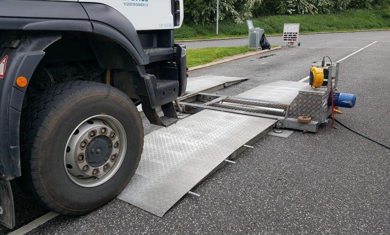 Control maraton al camioanelor pe insula Bornholm din Danemarca