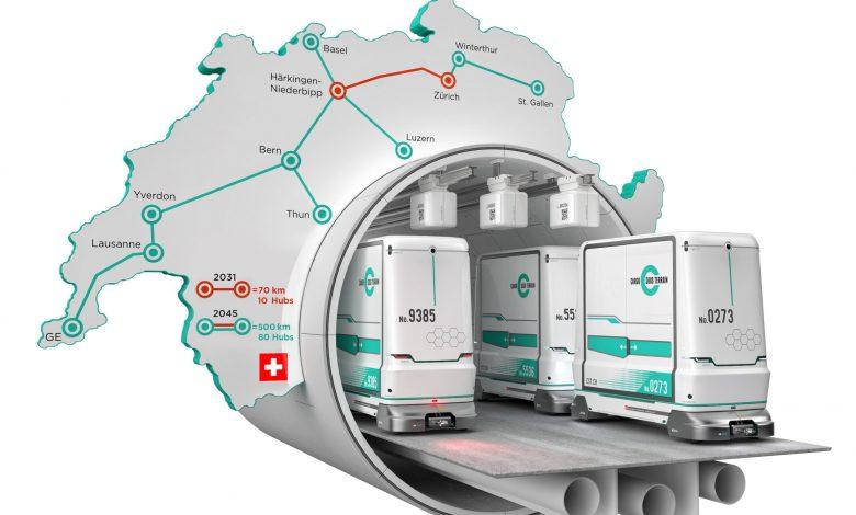 Elveția a aprobat legea transportului subteran de marfă