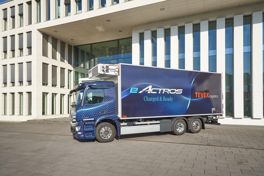 Mercedes eActros intră în producție la 7 octombrie. Bateriile și axele se produc de azi